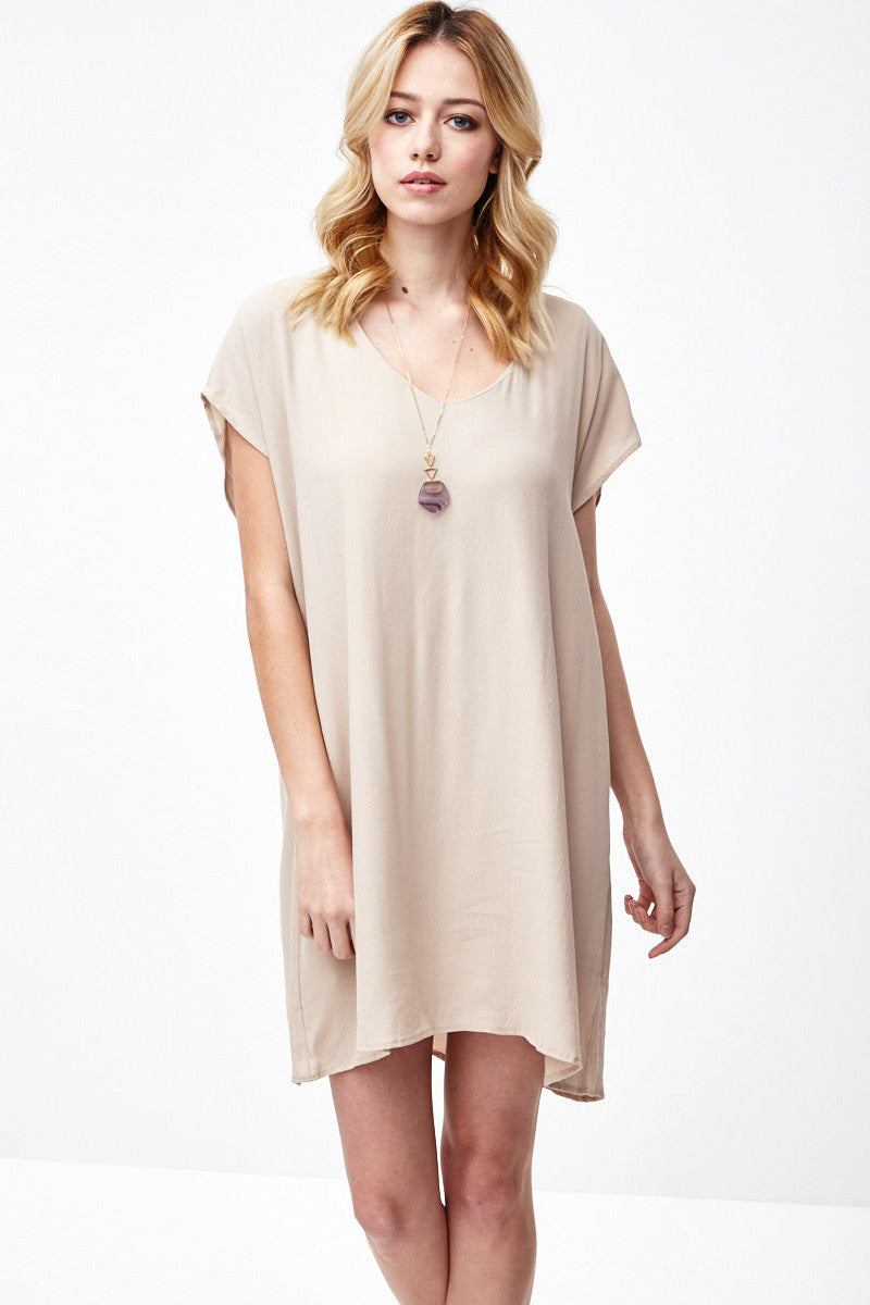 Short Sleeve Tunic Dress