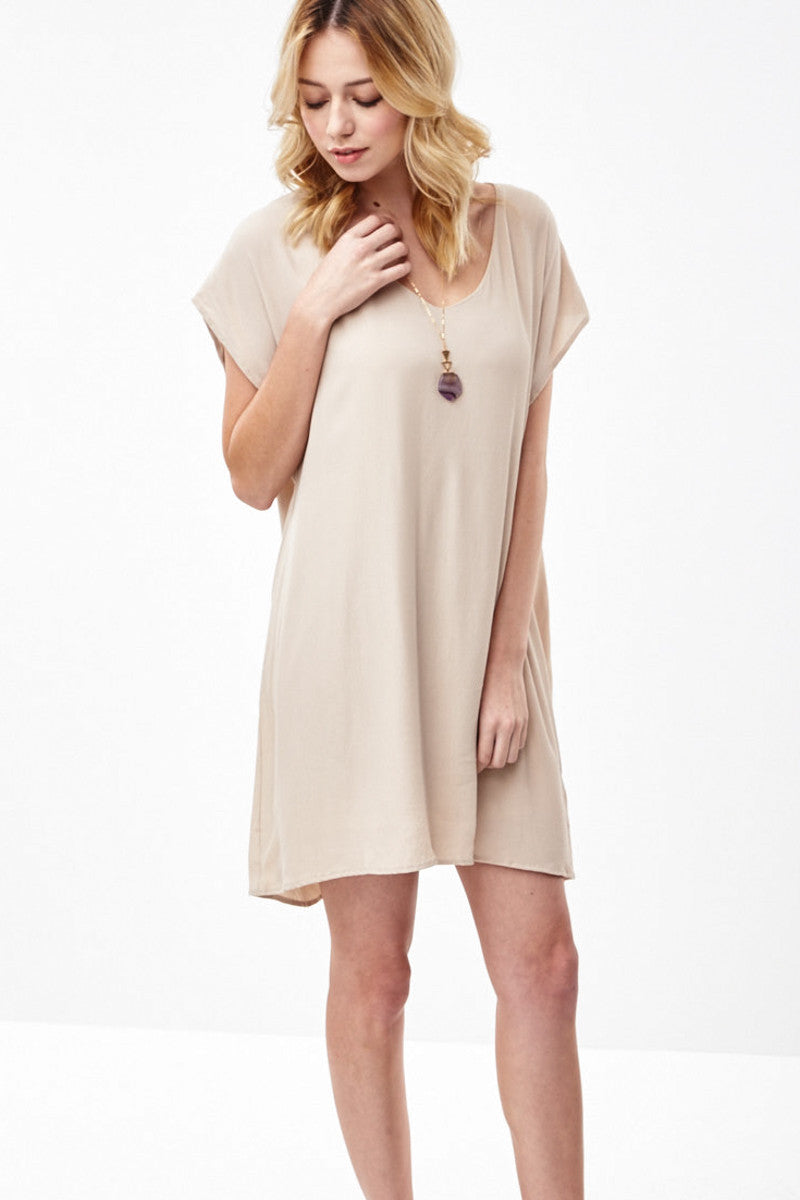 Short Sleeve Tunic Dress, Dresses