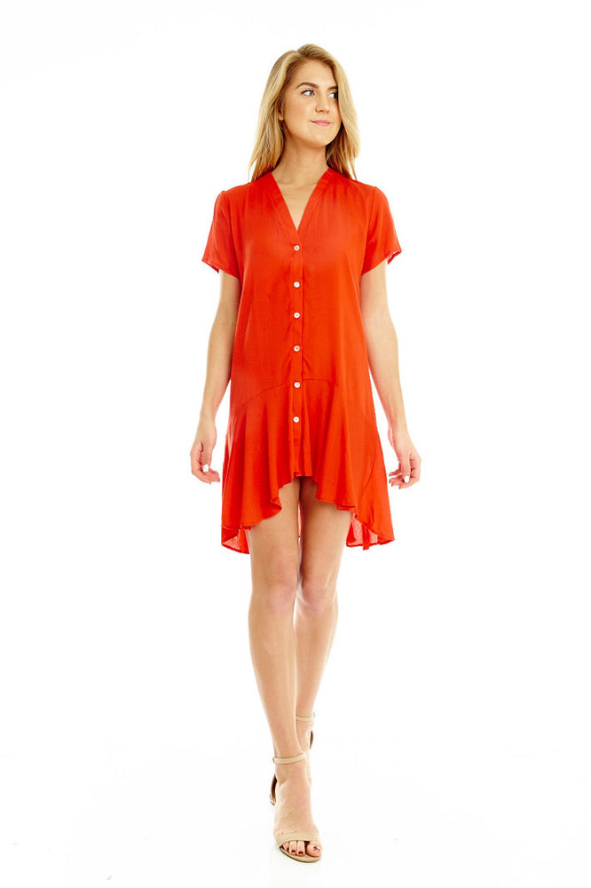 Short Button Up Dress