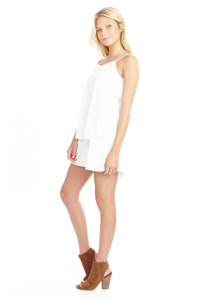 White Cape Layer Dress, Dresses