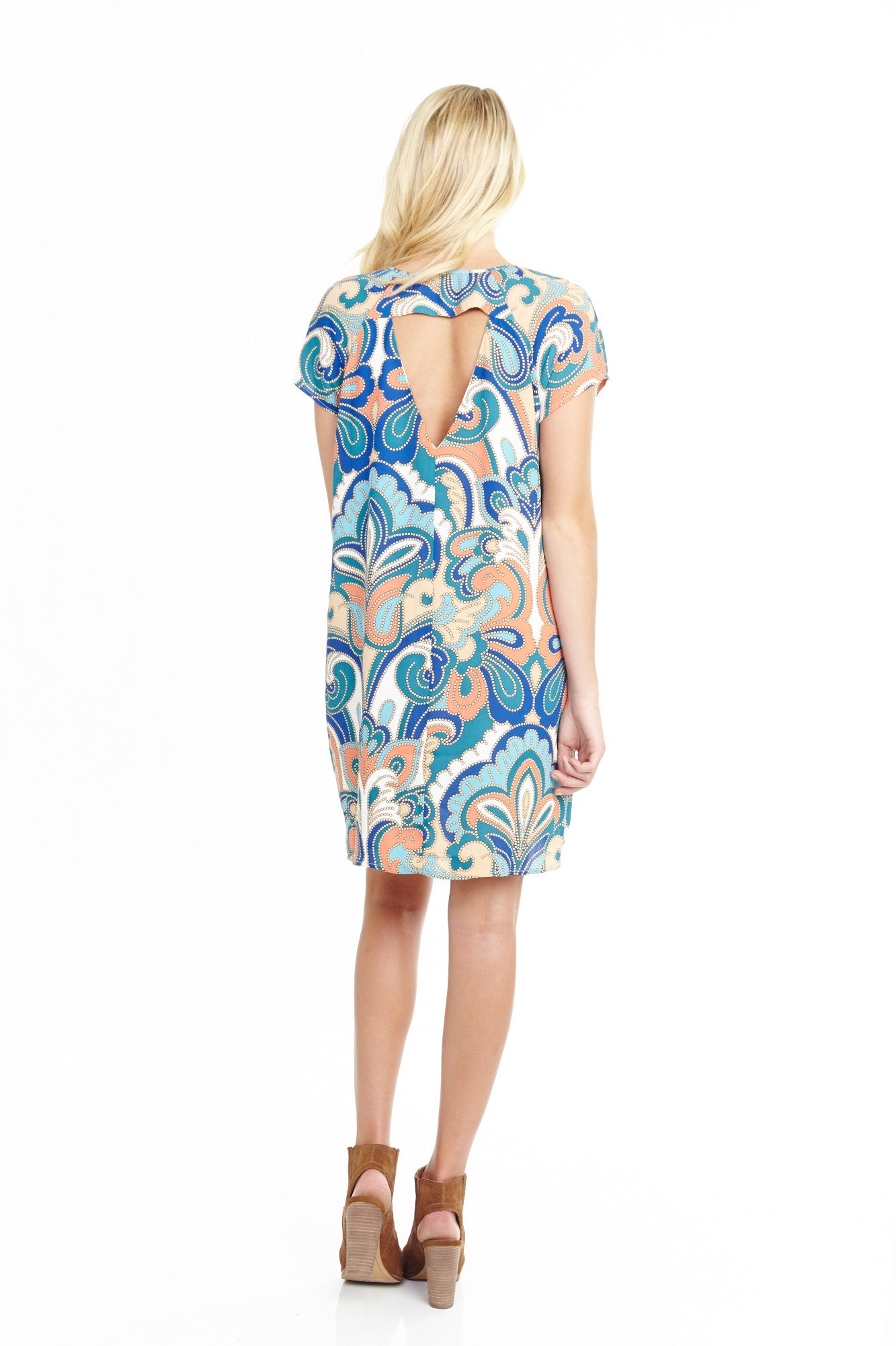 Pucci Coral Open Back Shift Dress, Dresses
