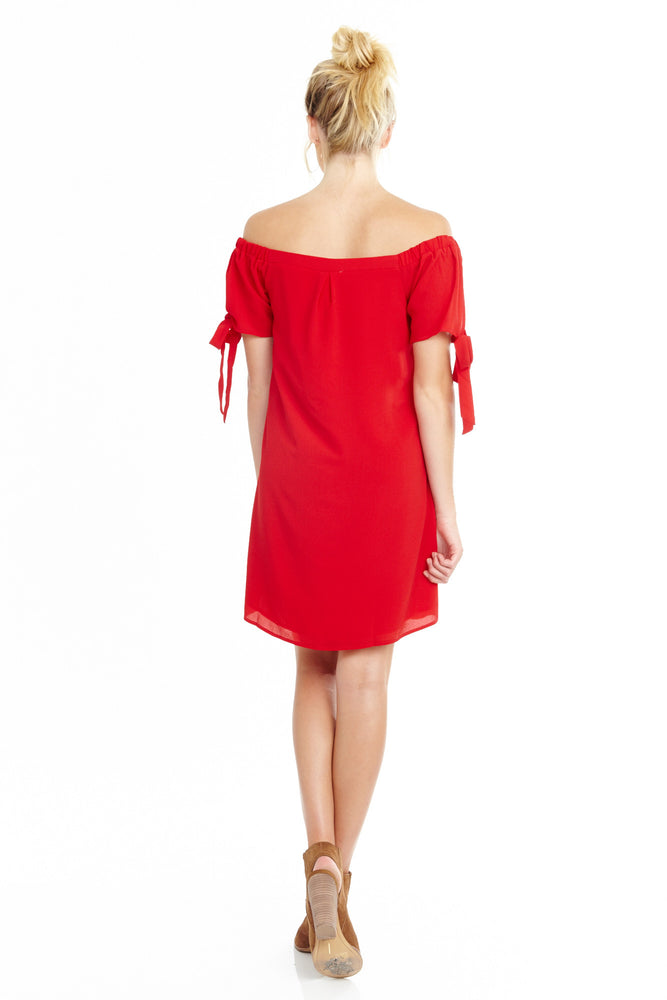 Red Off Shoulder Dress, Dresses