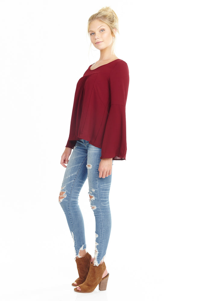 Bell Sleeve Blouse, Tops