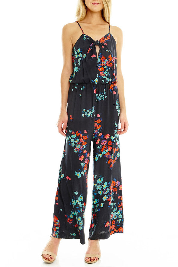 Spaghetti Strap Tie Front Jumpsuit, Dresses