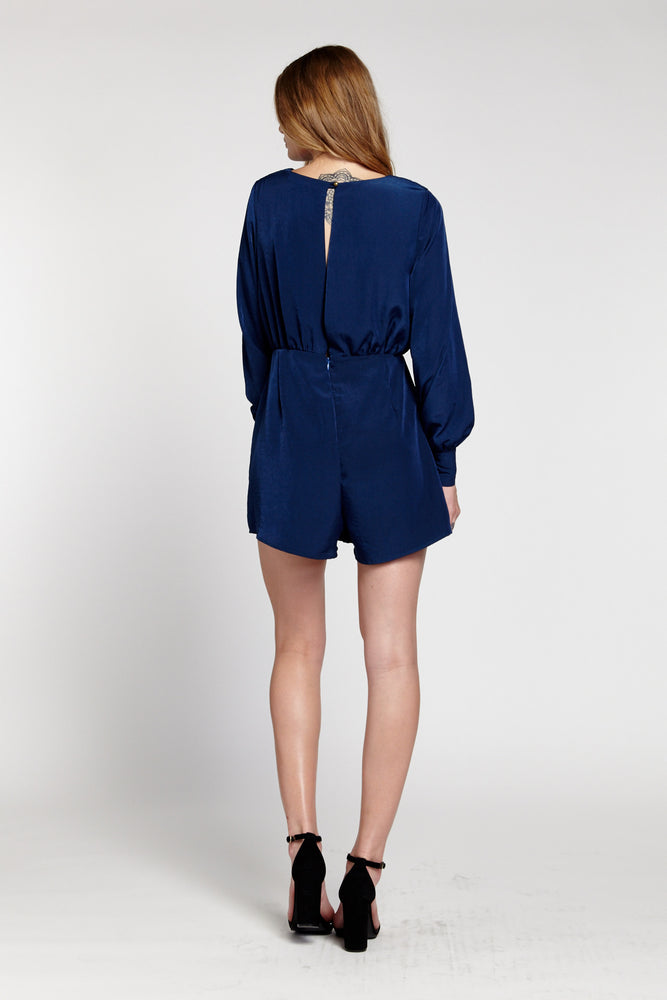 SD Gucci Long Sleeve Surplice Front Button Back Romper Prepack