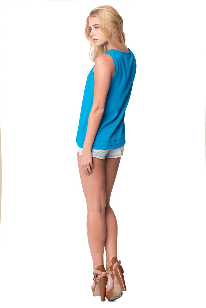 Easy Tank in Turquoise, Tops