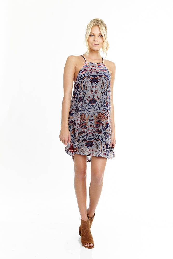 Velvet Paisley Racerback Dress
