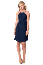 Navy Slip Dress, Dresses