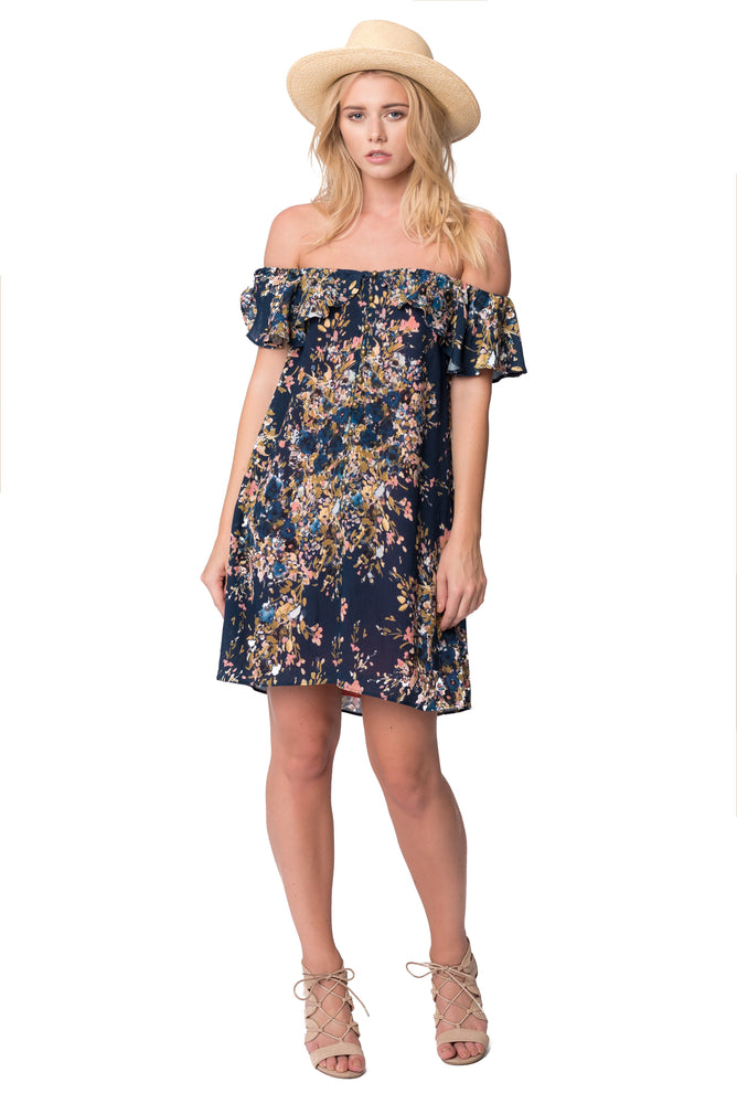 Freesia Button Down Ruffle Dress, Dresses