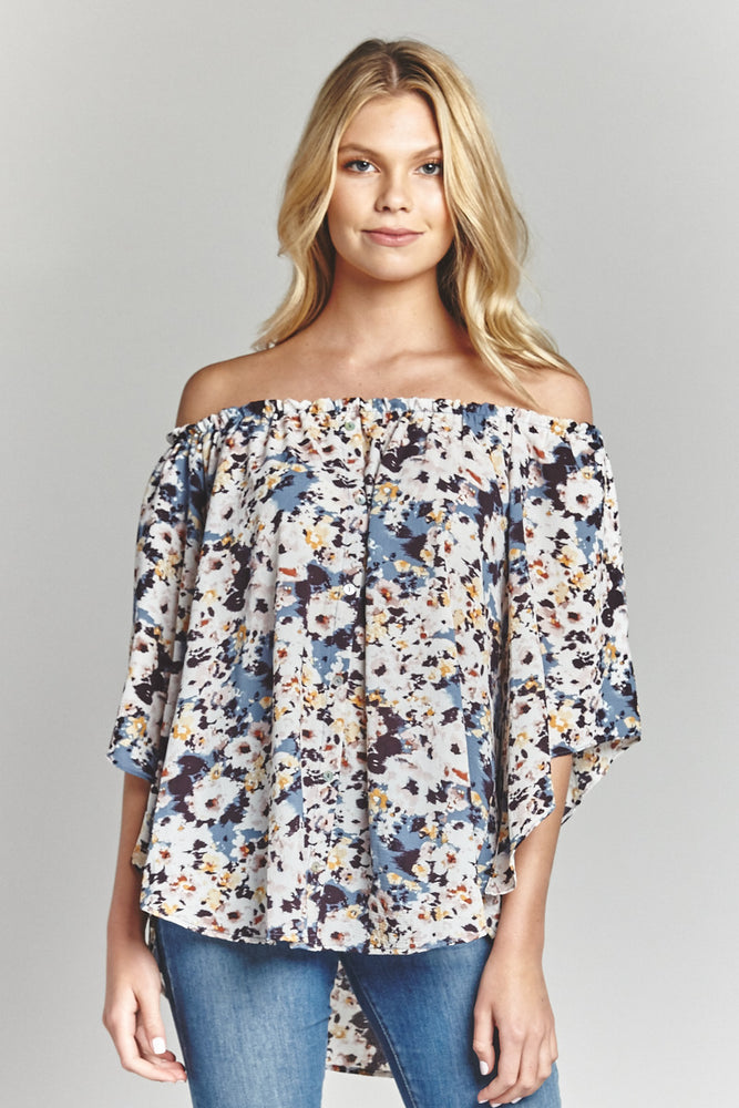 Clouds Off The Shoulder Blouse