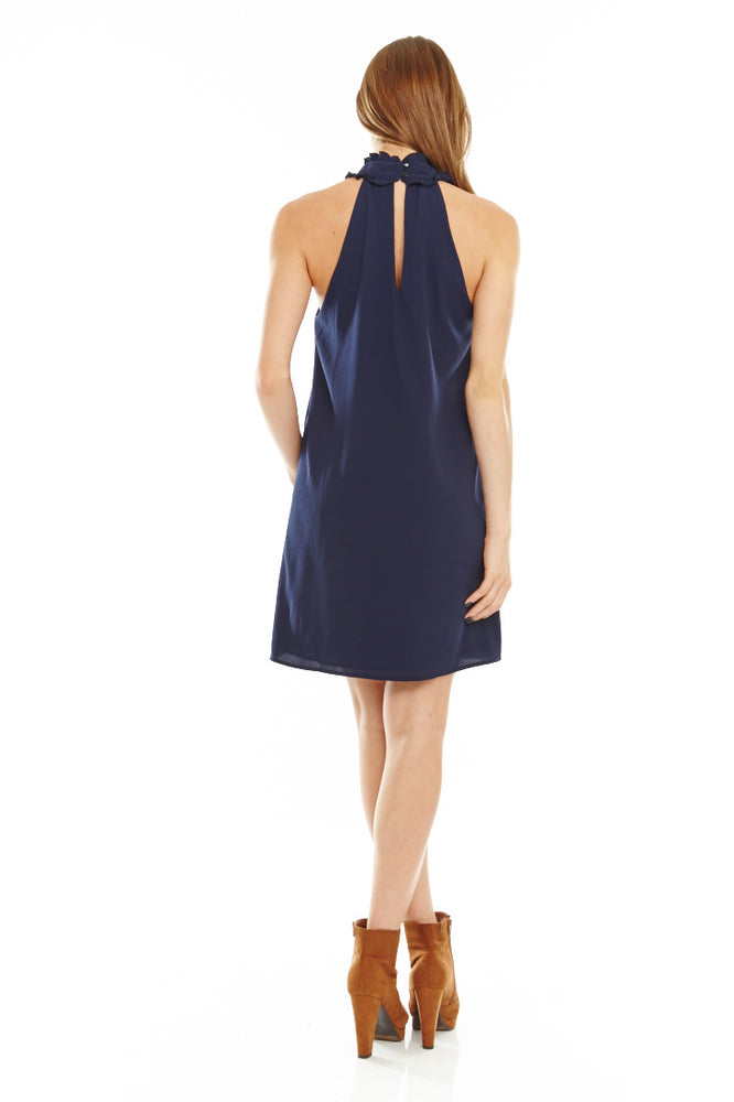 Navy Keyhole Shift Dress, Dresses