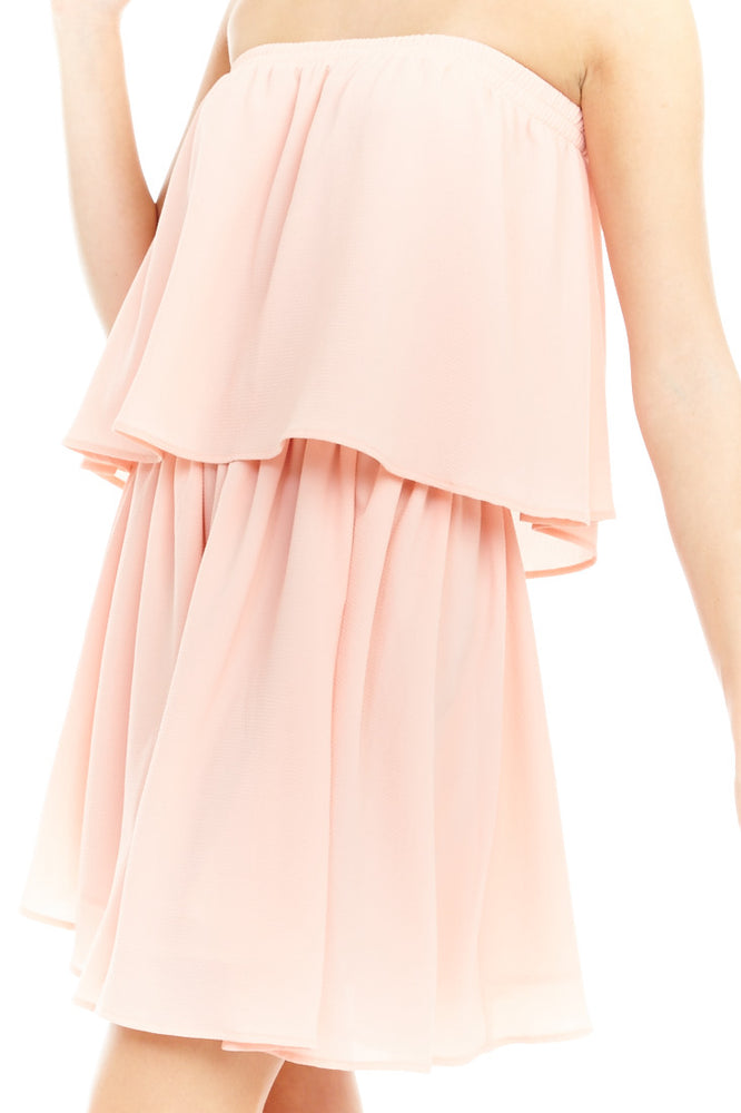 Pink Double Layer Dress