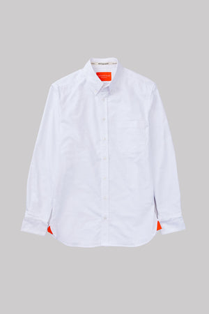 Open image in slideshow, WHITE OXFORD BUTTON DOWN
