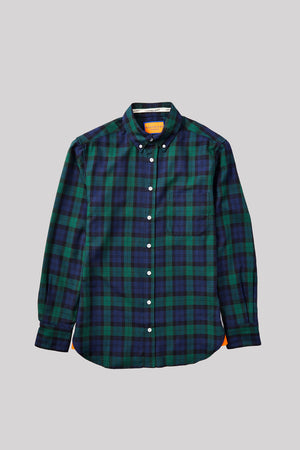 Open image in slideshow, BLACK SWATCH TARTAN OXFORD BUTTON DOWN