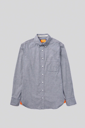 Open image in slideshow, NAVY GINGHAM BUTTON DOWN