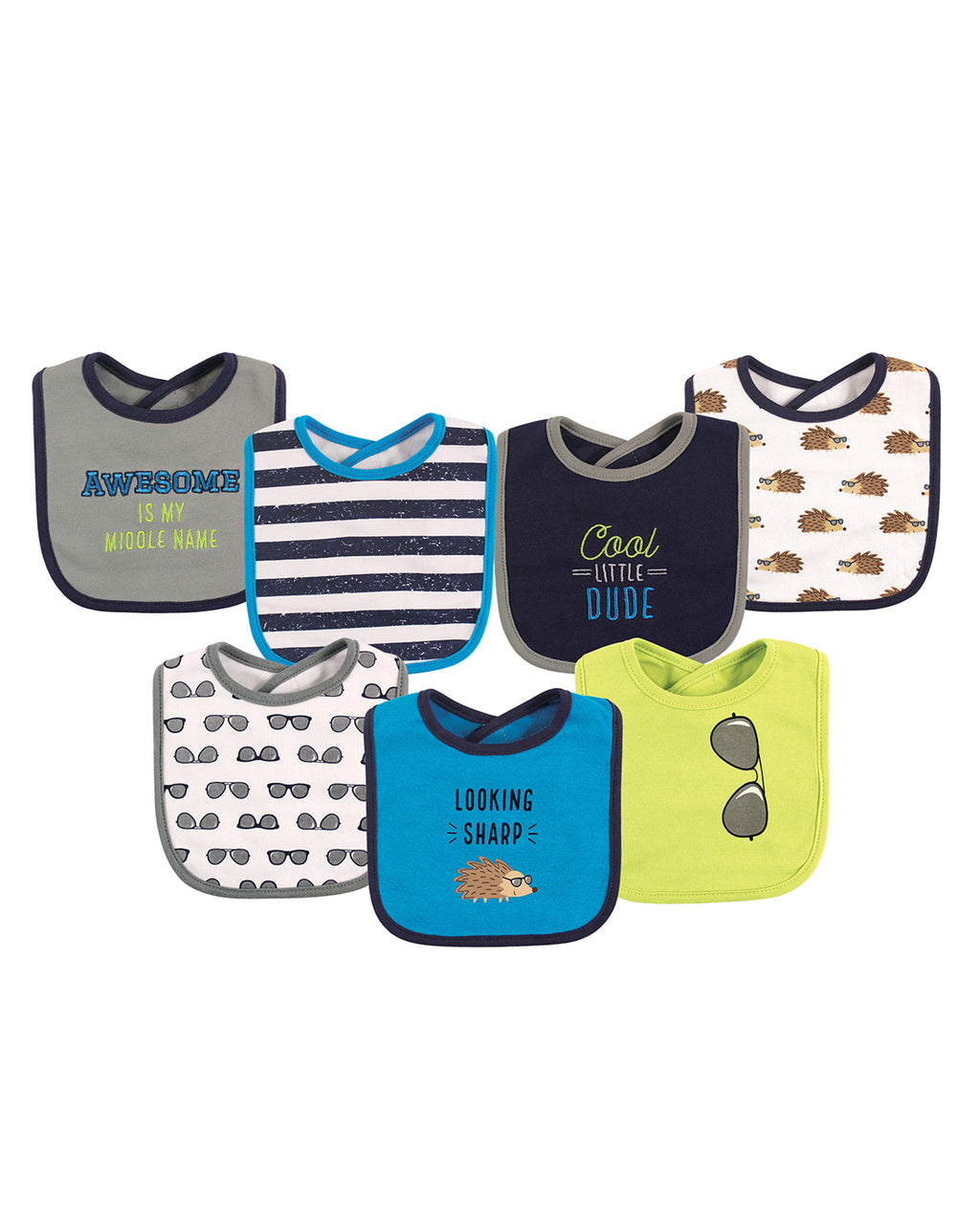 Cool Kid Drooler Bibs, 7-pack