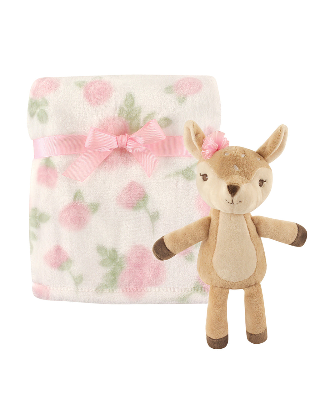 Flower Blanket and Fawn Snuggle Set