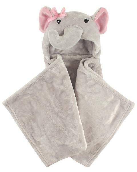 Baby Girl Elephant Hooded Blanket