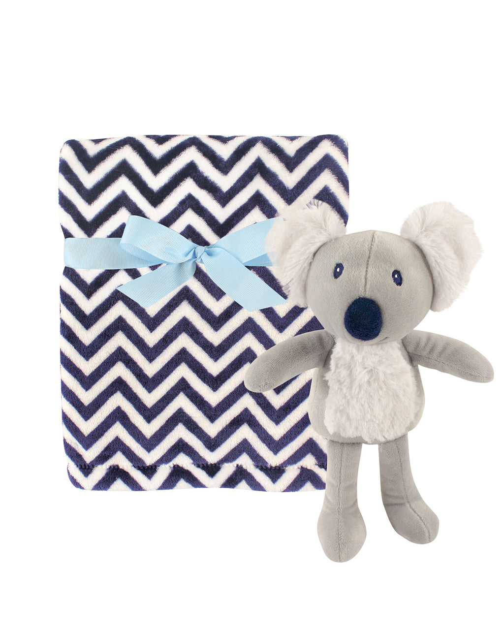 Chevron Blanket and Koala Snuggle Set