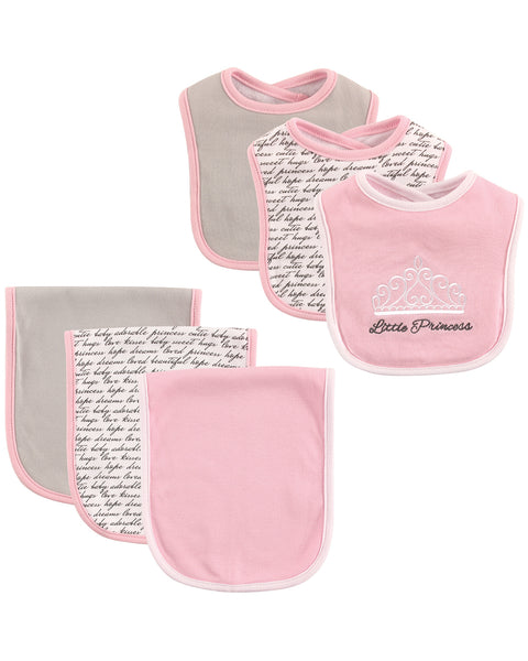Little Princess Burp Cloth Set, 6-Pack