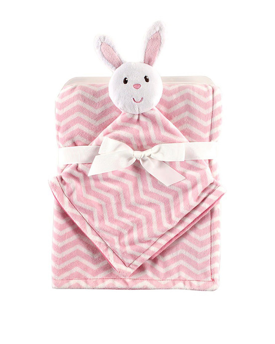 Pink Bunny Security Blanket Set