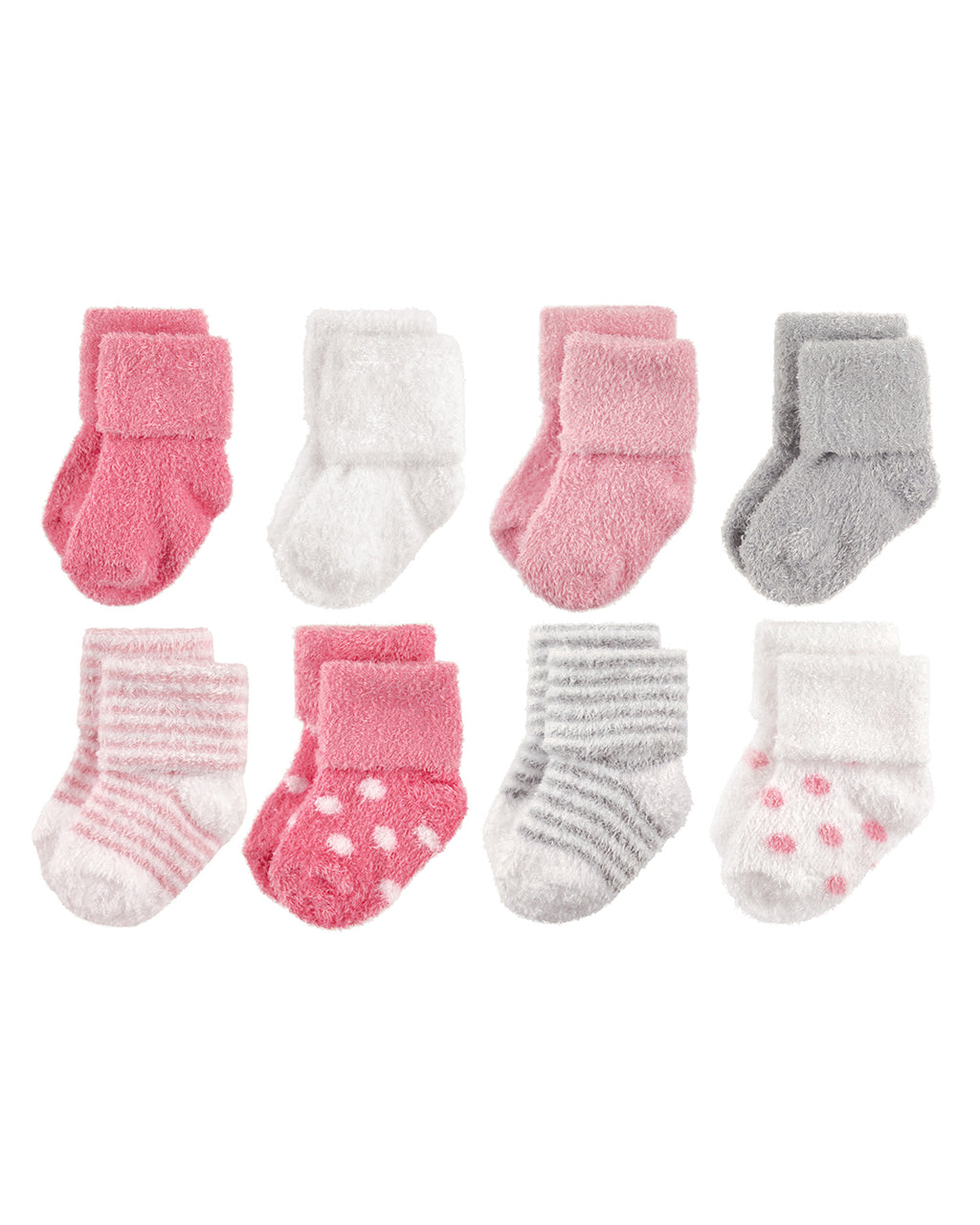 Baby Girl Chenille Socks, 8-set