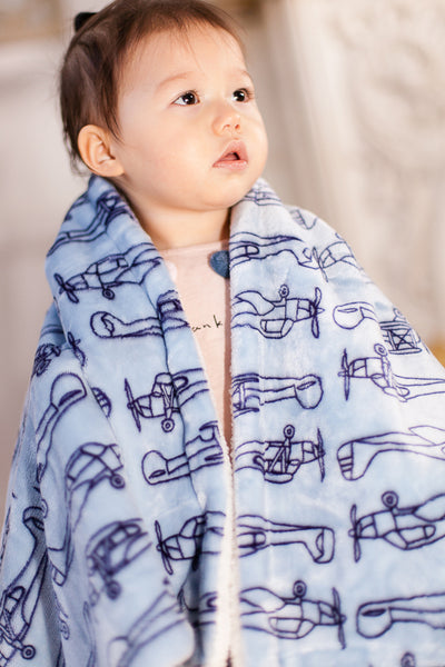 Plane Patterned Double Layered Blanket