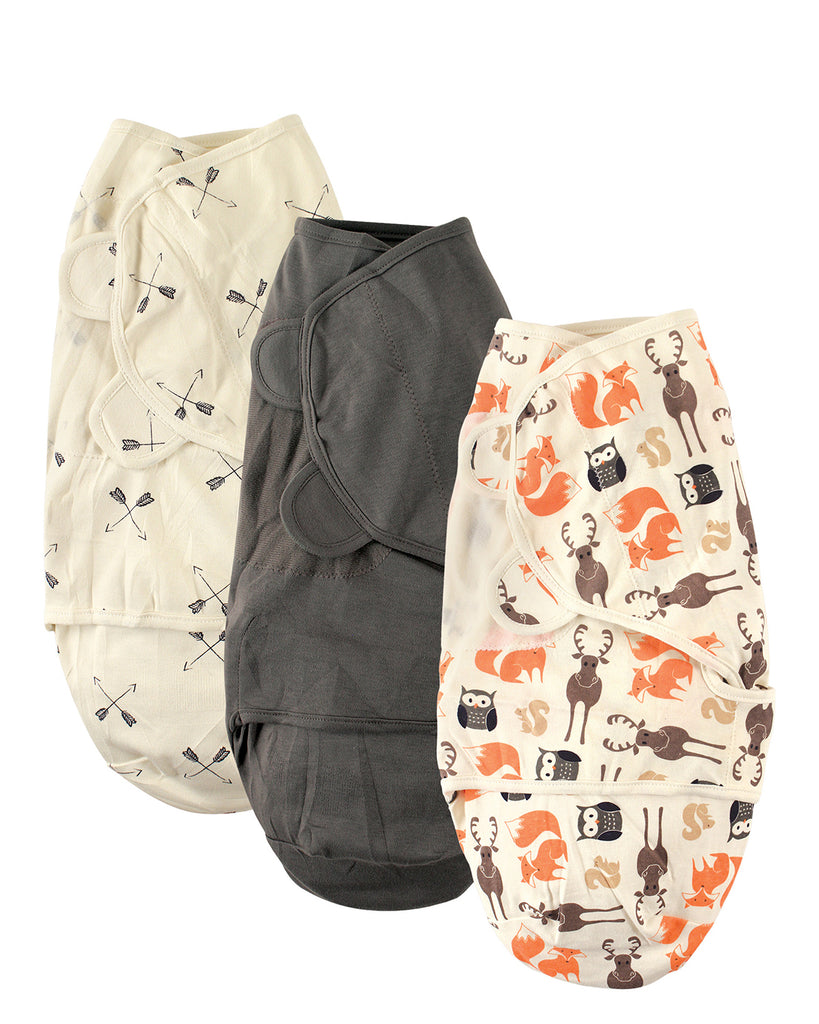 Woodland Swaddle Wraps, 3 set