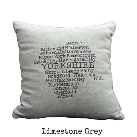 Word art cushion collection the odd bobbin yorkshire towns county map gumiabroncs Images