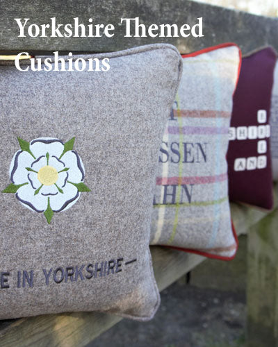 Yorkshire Themed cushions