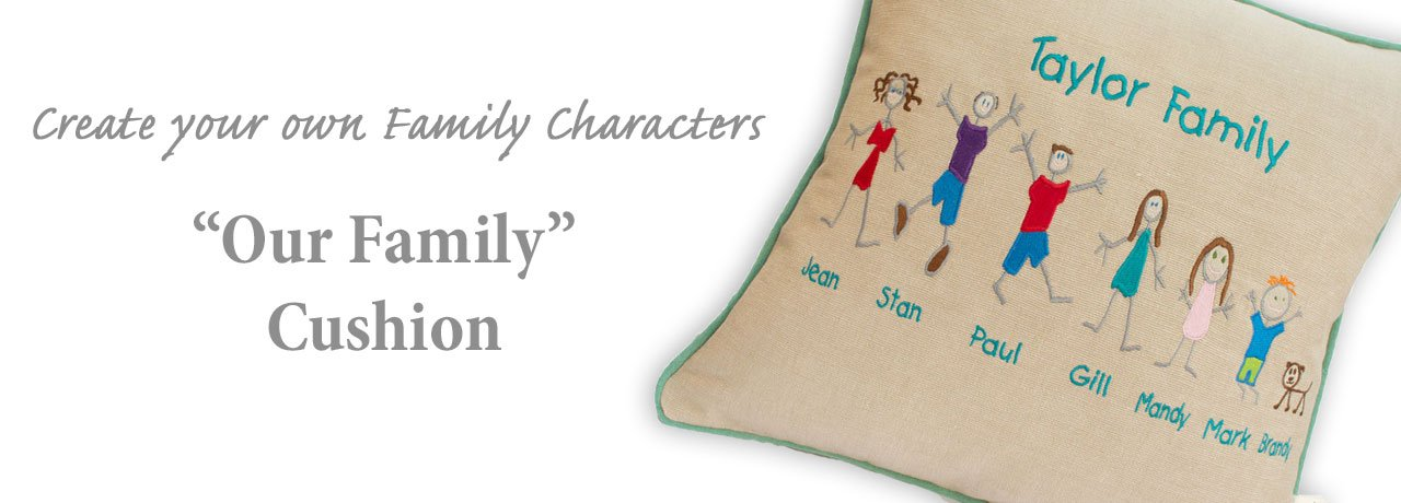 Create your Family on a Cushion with an Our Family Cushion