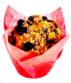 Banana-Blueberry Vegan and Gluten Free Muffins by the Dozen