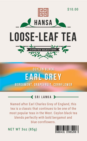 Earl Grey - 3 ounces - Loose Leaf Tea