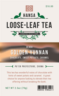 Golden Yunnan - 2.5 ounces - Loose Leaf Tea