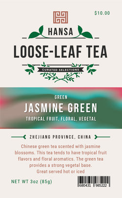 Jasmine Green - 3 ounces - Loose Leaf Tea