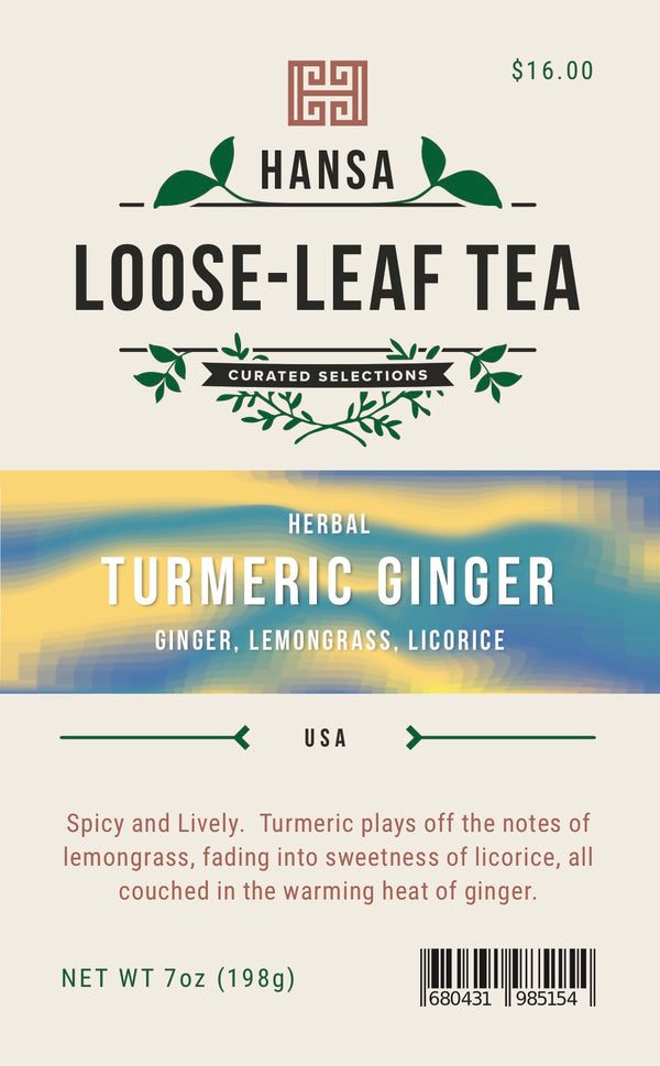 Turmeric Ginger - 7 ounces - Loose Leaf Tea