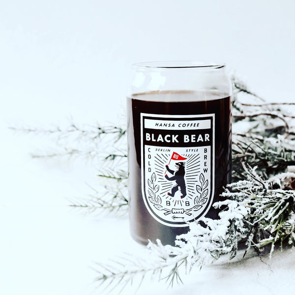 Black Bear Cold Brew Beer Can Glass