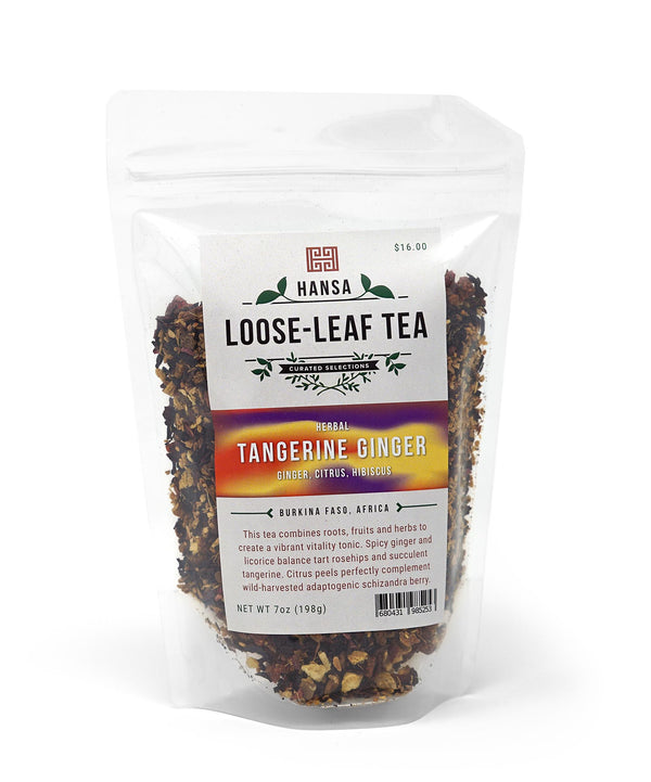 Tangerine Ginger Tea - 7 ounces - Loose Leaf Tea