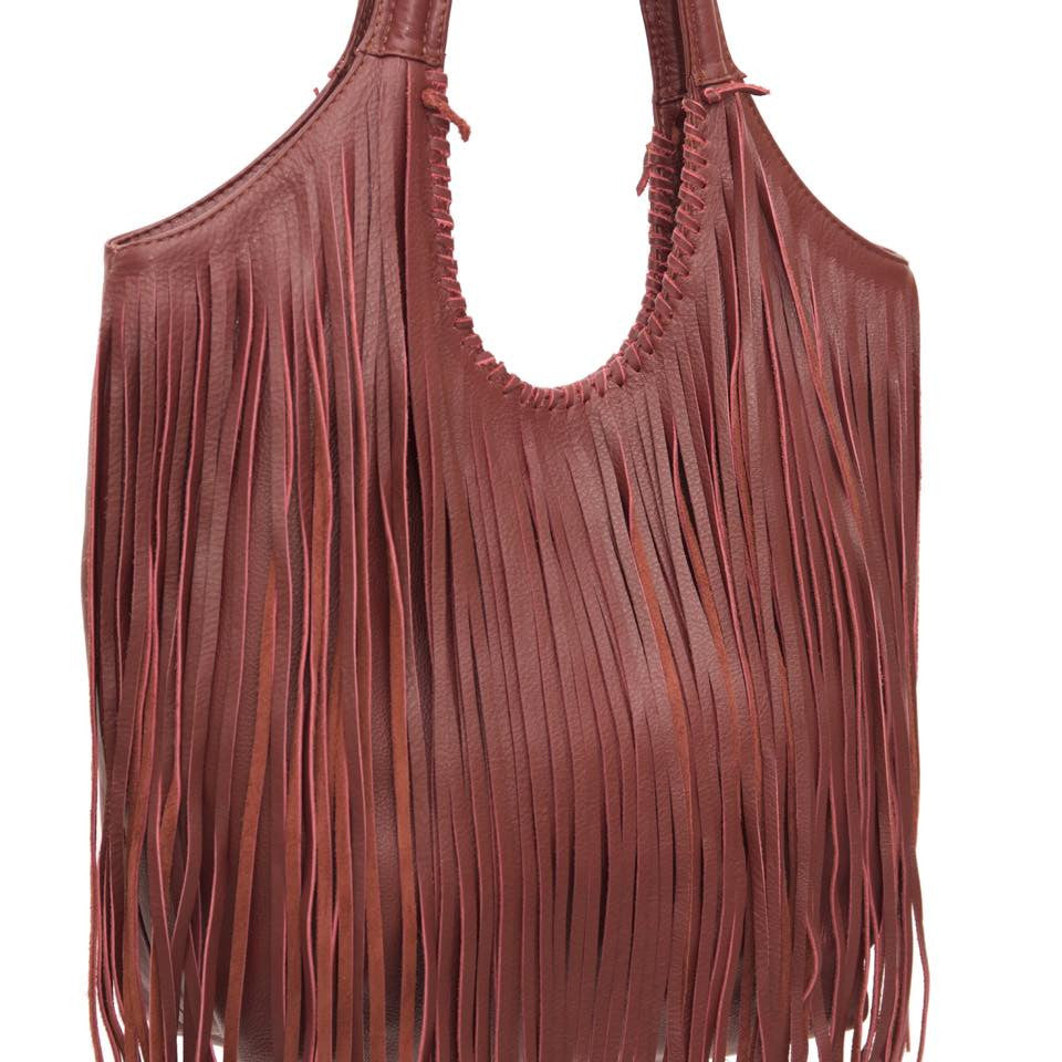 Jennifer Haley - Large Fringe Sophisticated Shopper - Jennifer Haley Handbags
