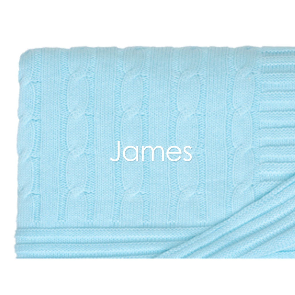 Cable Knit Blanket - Jennifer Haley Handbags
