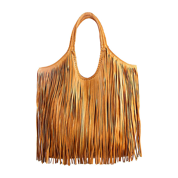 Jennifer Haley - Fringe Sophisticated Shopper - Tan - Jennifer Haley Handbags