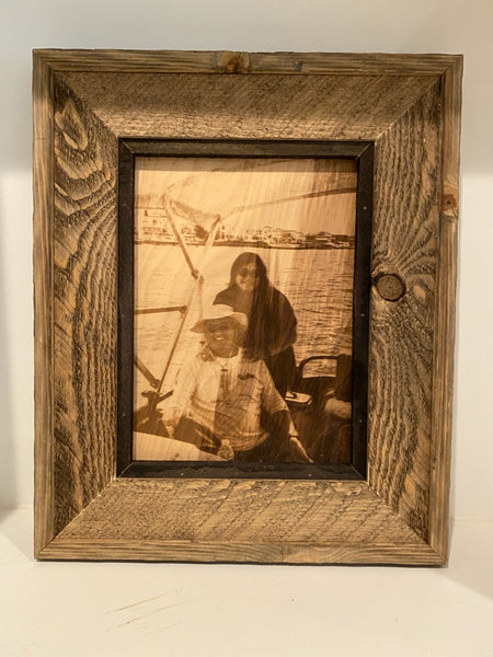 ADK Rustica Custom Wood Frames Etching