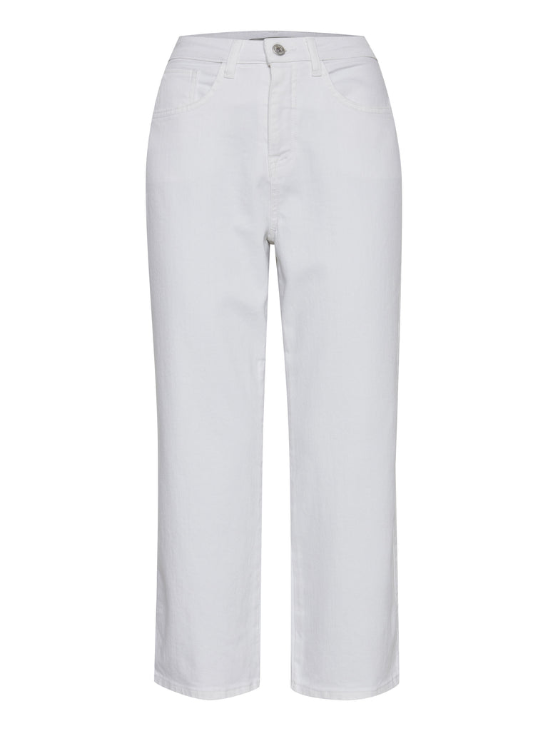Gesto White Cropped Jeans