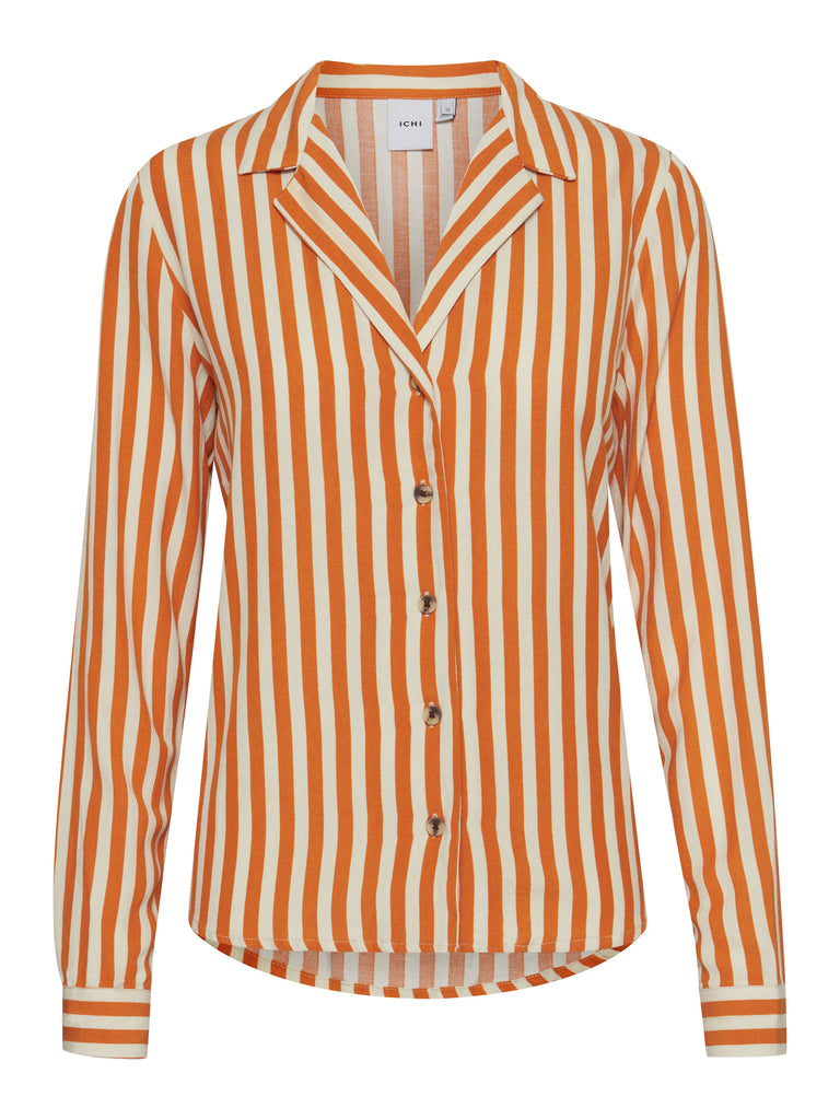 Julle Orange and White Stripe Shirt