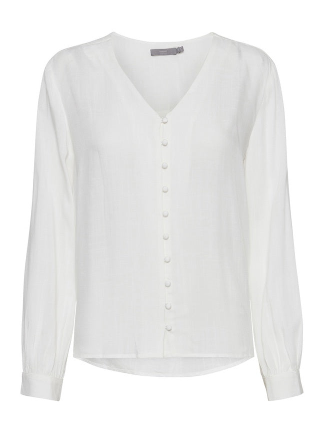 Ginny Off White V Neck Shirt