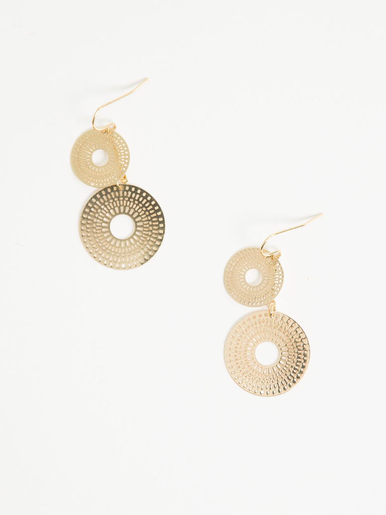 Helen Double Sun Disc Earrings