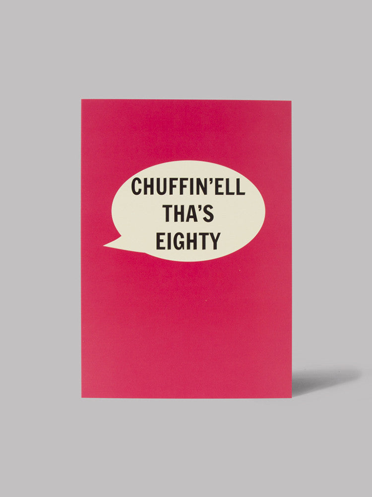 Chuffin'ell Tha's Eighty Card - Car & Kitchen