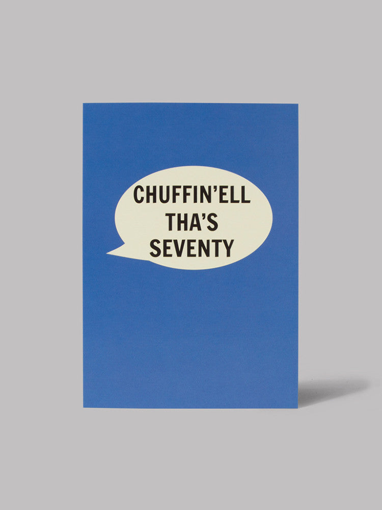 Chuffin'ell Tha's Seventy Card - Car & Kitchen