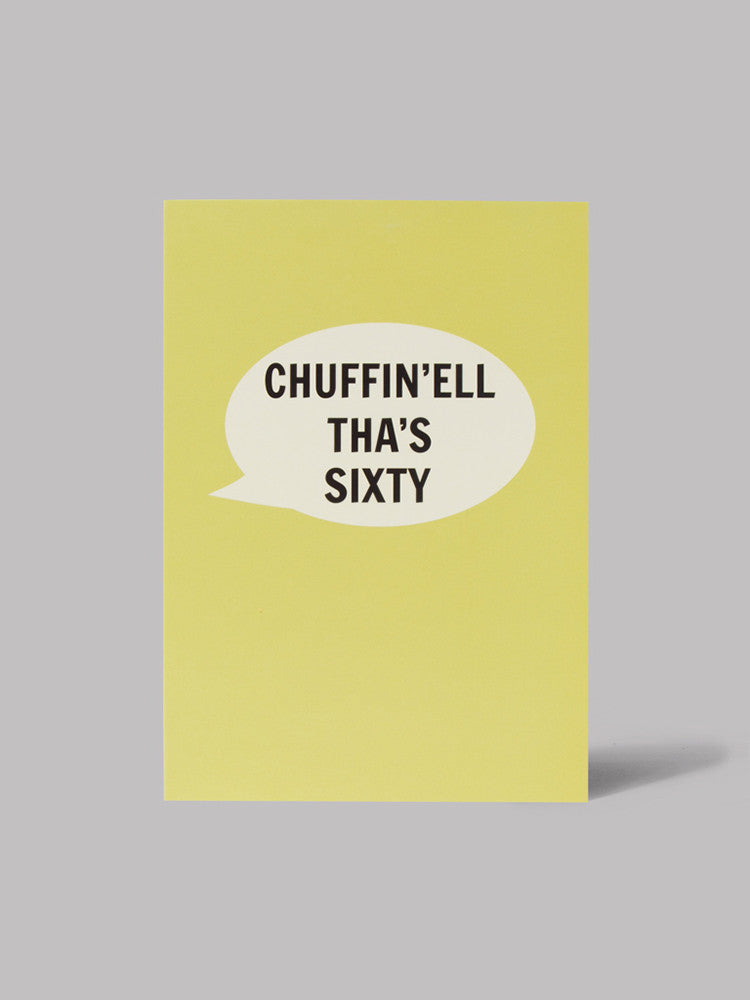 Chuffin'ell Tha's Sixty Card - Car & Kitchen