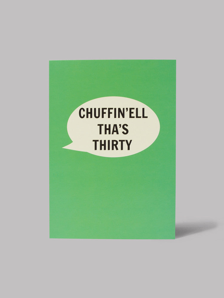 Chuffin'ell Tha's Thirty Card - Car & Kitchen